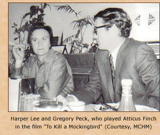 Nelle and Gregory Peck on lunch break.