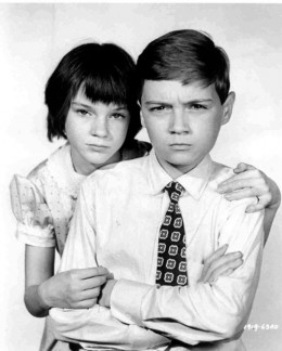 Child actors Mary Badham and Phillip Alford