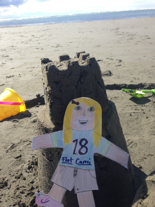 Flat Cami on the beach in Sumner, Christchurch, NZ