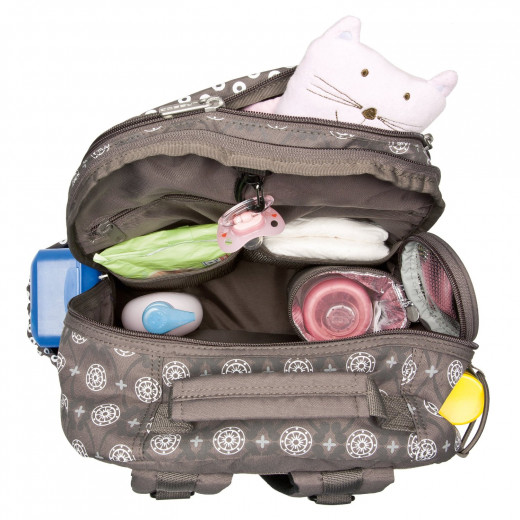 Lassig diaper backpack inside view.