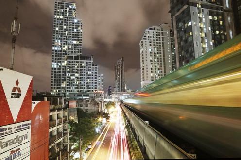 The skytrain in Thailand.