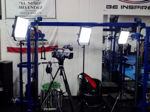 CHASE AXS-TV cameras at Gilbert Melendez gym