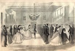 A nice cartoon of a high-society ball