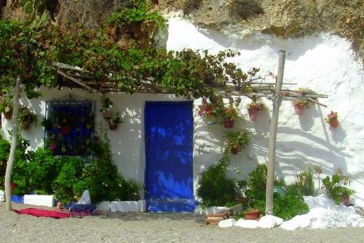 A house in the rocks in Nerja