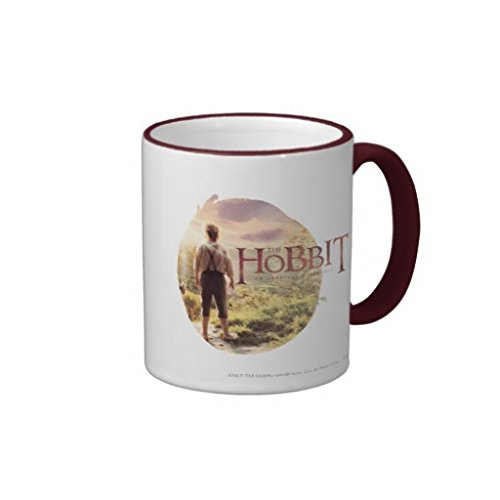 Image of a coffee mug printed with Hobbit logo