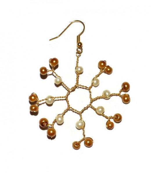 Free jewellery making tutorial snowflake earrings