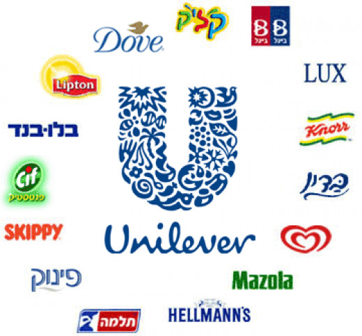 Here are just some of the brands under the umbrella of Unilever's name.