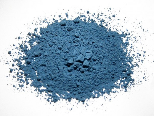 Azurite ground into a fine powder to be used as pigment as the ancients once did.