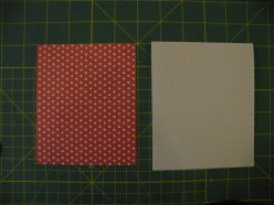 Base card in white with a polka-dotted background piece