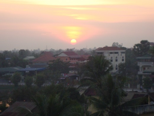 Sitting on the roof of our hotel in Siem Reap, we indulged in the most beautiful sunsets