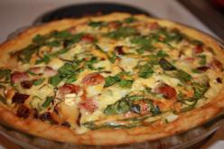 Kilebasa Quiche with potato crust