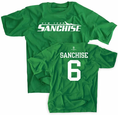 """Actual """"Sanchise"""" T-shirts sold in New York"""