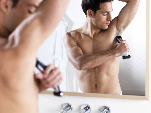 The Philips Norelco BG2040 Shaver tackles underarm hairs easily