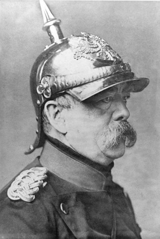 Bismarck with German spiked helmet, 1871