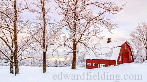 Winter Arrives by fine art photographer Edward M. Fielding - www.edwardfielding.com