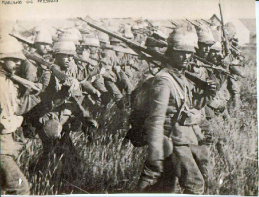 Marching on Pretoria, Boer War