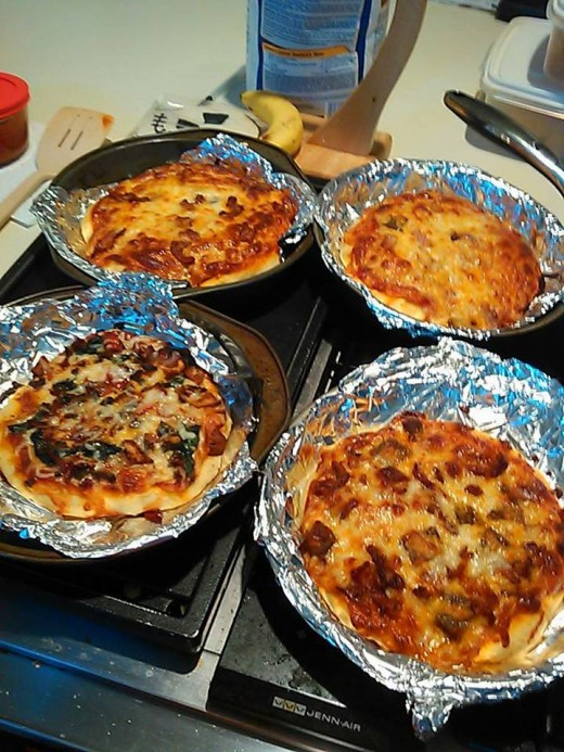 Interactive party activity - make your own pizzas!  You can make the dough yourself and have it ready, or you can buy it.