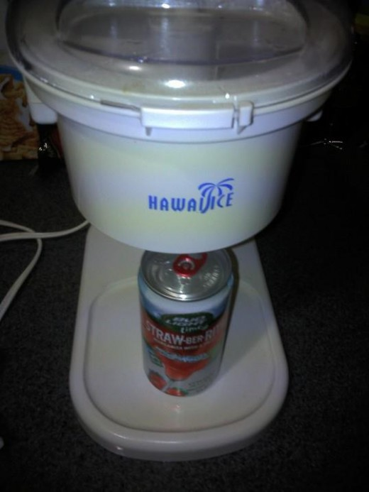 Try shaved ice beverages - use any drinks or sodas that you like!