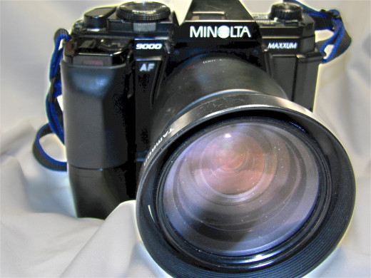 Digital or film (shown here), these cameras give you the widest range when it comes to lenses and bodies.