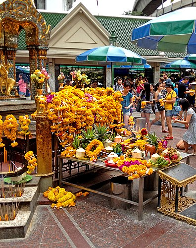 Famous Erawan Shrine in Bangkok