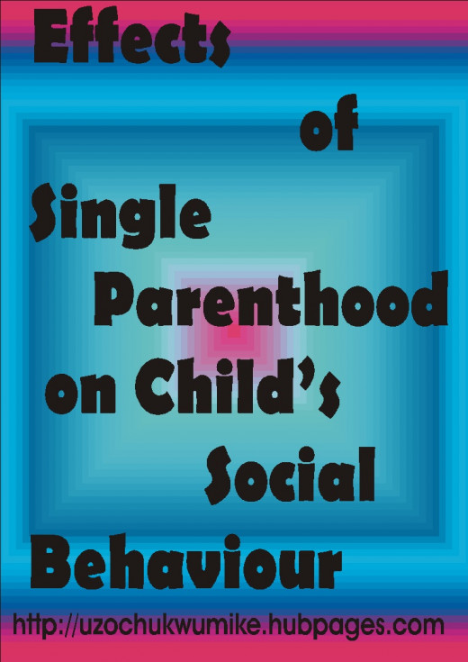 effects of single parenthood on child's social behavior