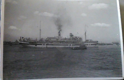 HM Hospital Ship Empire Clyde, Shanghai, 1945