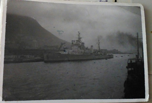 HMS Bermuda, Hong Kong, April 1946