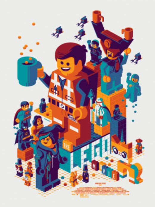 Tom Whalen The Lego Movie Poster