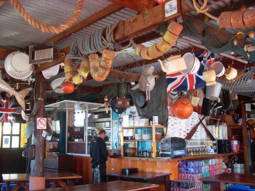 Quaint seafood restaurant in Hermanus.
