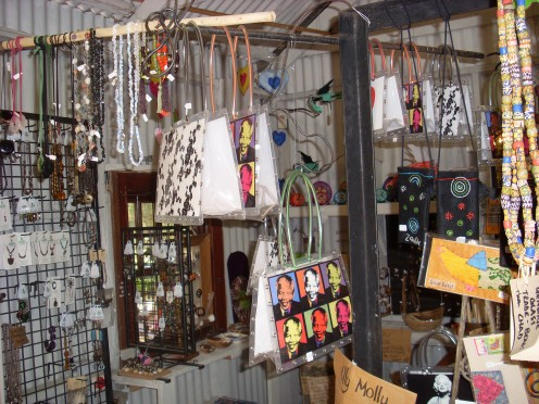 Craft shops abound on the Garden Route.