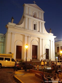 Saint John the Baptist Cathedral is one of the many can't miss sights at night that is easily found on foot.