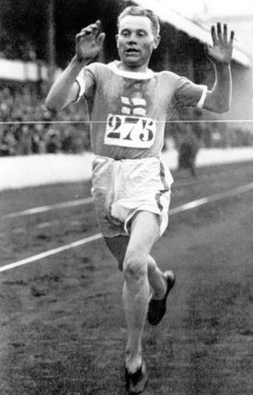 Paavo Nurmi, the Finnish middle and long-distance runner.