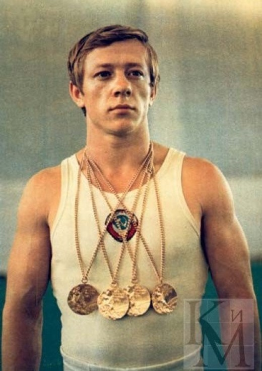 Nikolai, Andrianov, the Soviet gymnast.