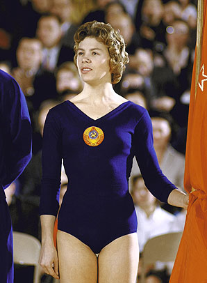 Larisa Latynina, the Soviet gymnast.