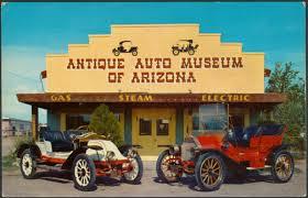 Antique auto museum somewhere in Arizona