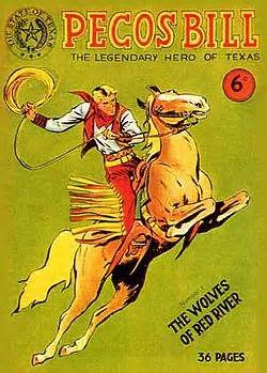 Pecos Bill in Comic Books (circa, 1949)