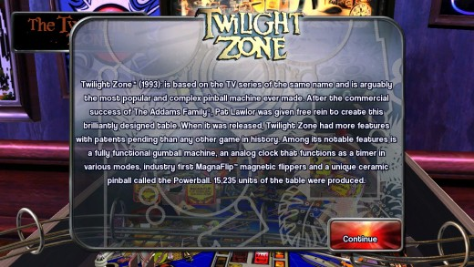 Information on Twilight Zone.