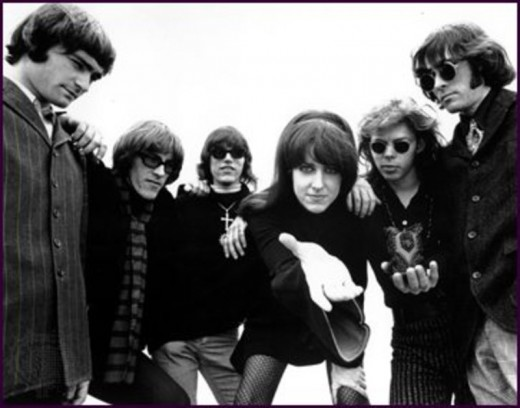 The classic Jefferson Airplane lineup: (from left) Marty Balin, Paul Kantner, Jorma Kaukonen, Grace Slick, Jack Cassidy and Spencer Dryden