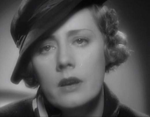"Great screenshot from her wonderful performance in the movie version of the Sinclair Lewis classic ""Ann Vickers."""