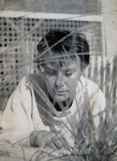 Book Cover photo taken by Truman Capote appearing on the first edition copies of To Kill A Mockingbird. The body language speaks volumes to her elusiveness.