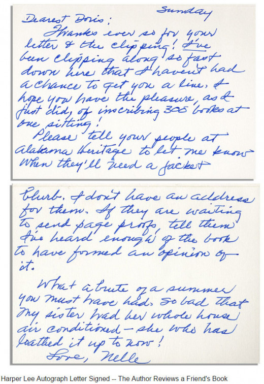 August 23, 1998 Letter to Doris Leapard, an author in NYC