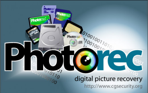 PhotoRec CGSecurity Data Recovery Software