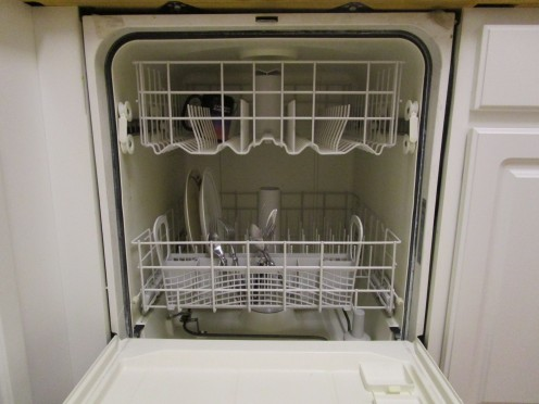 If the dishes are not heavily soiled, the pre-wash container does not need to be filled, saving you money on dishwasher soap since it will not have to be replaced as often.
