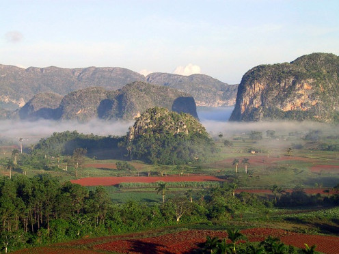Mountain landscape of Cuba.