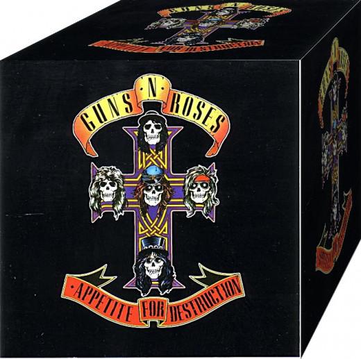 "Guns 'n' Roses' ""Appetite for Destruction"" album. Source: http://bm.img.com.ua/berlin/storage/afisha/orig/a/9c/51732be5f884d20c5dd386e2d81d59ca.jpg"
