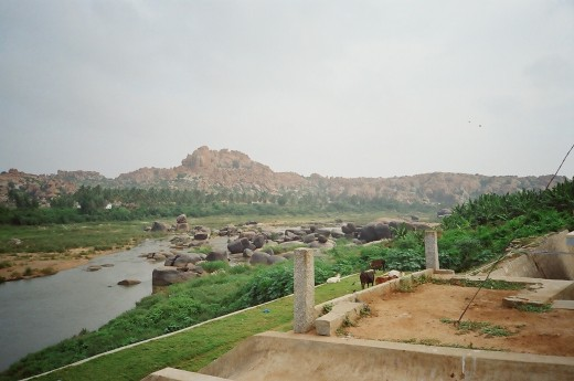 The Tungabhadra River In Hampi Is Associated With Lord Rama And Sita