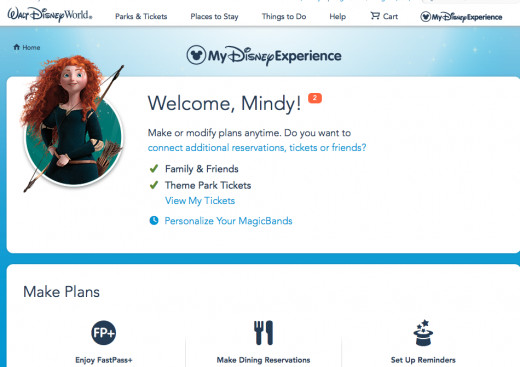 A screen shot of My Disney Experience - There's also a great app for iPhones. Perfect for when you're on Property.