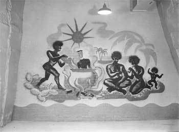 Cannibalism expressed as a Mural inside the Burlington Bunker