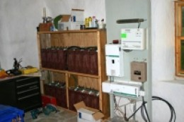Battery bank for solar power system