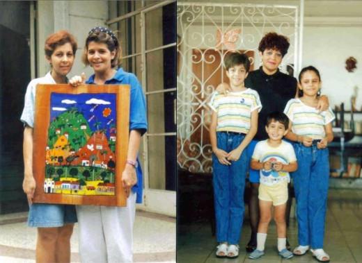 Photo of Lazara with courier. The little boy in the center of the 2nd pic is Roly's child. Maria Luisa Hernandez, Roly's mother-in-law stands behind him. The pics were sent by PR-2 through me to the CIA for the purposes of identification.